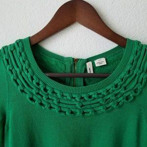 Moth Anthropologie Green Short Sleeve Top Sweater